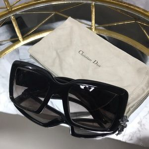 Christian Dior black oversized sunglasses